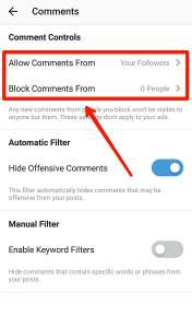 اموزش بلاک کردن کامنت گذاری یک شخص یا فالوور های اینستاگرام